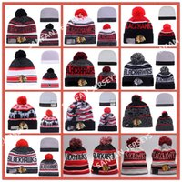 best print paper - 12 Colors Hot Sale CHICAGO BLACKHAWKS Hockey Beanies Team Hat Winter Caps Popular Beanie Caps Skull Caps Best Quality Sports Beanies