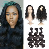 best hair bands - 8A No Tangle No Shedding Natural Color Best Brazilian Body Wave Bundles Hair With Lace Band Frontal DHL