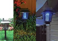Wholesale Solar Mosquitoes Insect Pest Bug Killer Zapper Light Repellent Lamp LED Light Outdoor Garden MYY