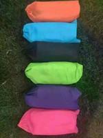 Saco de dormir de ar inflável rápido Hangout Lounger Air Camping Sofa Portable Beach cama de tecido de nylon com bolso e âncora 30pcs