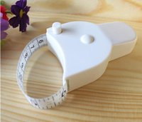 Wholesale Hot selling Fitness Accurate Body Fat Caliper Measuring Body Tape Ruler Measure Mini Cute Tape Measure White