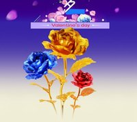 Cheap Wedding Valentine's day gifts Golden Rose Best Display Flower Rose Wedding decoration