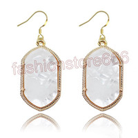 Wholesale Kendra Scott Style Drop Earrings Accessories Gold Plated Fashion Geometry Crytal Earring Jewelry For Women Gifts