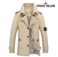 Wholesale fast shipping new stone autumn mens jacket bomber jacket and coat stone blue island jacket with