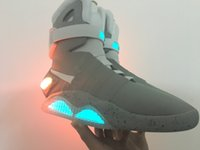 air pump shoes - Hot cool Air Mag AKA Marty McFly Basketball Shoes Back To The Future Glow In The Dark Sole Limited Edition Sneaker Led Lights
