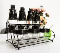 bbq sauces - 9pcs set Sealed Glass Cruet set Oil Vinegar Soy Sauce Bottle Press type can accuse oil Spraying Bottle Kitchen Cooking BBQ Tool