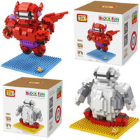 Wholesale 2017 New styles Big hero Baymax Models Building Toy Self Locking Bricks Kids Intelligence Model Building Kits