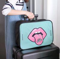 adjustable trolley - 5 Sets Cartoon Travel bag Insert Handbag Large liner Tote Organizer Dual Storage Bag Adjustable Straps Convenient Trolley sort out bag