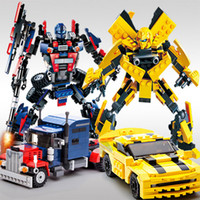 best transformer toys - New Sale Transformer Car Building Block Styles Parts cm Educational DIY Bricks Kids Toys Best Gifts JET MC001