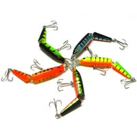 Wholesale 10 CM g Sections Fishing Minnow Lure Artificial Bait Hooks Crankbait Fishing Tackle Plastic Hard Bait