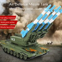 Wholesale 1 military model air defense missile tank display boy