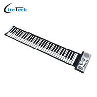 Enrollar 61 teclas España-Venta al por mayor-Portable 61 Teclas de espesamiento electrónico Roll Up Piano MIDI Teclado suave Piano de alta calidad Flexible teclado de goma de silicona