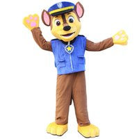 Wholesale PAW Patrol Adult blue Dog Mascot Costume Marshall Chase Dog Hallowmas Free Ship