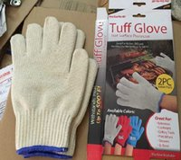 bbq pieces - Tuff Glove BBQ Gloves Insulated Kitchen Cooking Bakeware Tool Baking Heat Resistant Glove Oven Pot Holder pieces Retail box