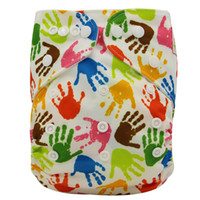 30-42 Months baby washable diaper - 5pcs Ohbabyka New Print Suede Cloth Pocket Diaper PUL Washable Baby Nappy Super Comfortable And Breathable