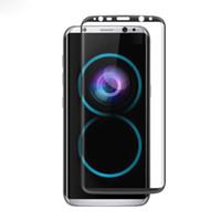 Écrans pour galaxie Prix-Pour Galaxy S8 S8 Plus Protecteur d'écran en verre trempé à l'avant et à l'arrière avec un emballage de détail 50pcs / up
