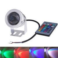 Wholesale LED underwater lights RGB projection lamp W outdoor waterproof lamp IP65 DC12V remote control color lamp floodlight