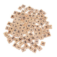 Wholesale New Burlywood Color Wooden Alphabet Scrabble Tiles Black Letters Numbers For Crafts Wood