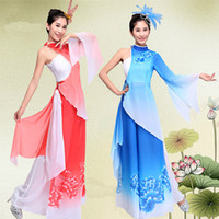 belly tube - 4 Top Tube tops Skirt Headdress Chiffon Women Stage Dancing Costume Classic National Female Dancing Wear Yangko Dress