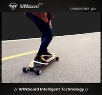 battery powered electric motor - Winboard w custom dual in wheel hub motor full real carbon fiber deck battery powered cheap electric skateboard