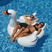 Wholesale 180cm inches inflatable swan Giant Flamingo Swimming Pool Float for Adult Tube Raft Kid Swim Ring Summer Water Fun Pool Toy