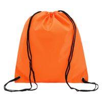 Vente en gros-Bonne affaire School Drawstring Book Bag Sport Gym -orange