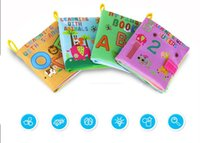 Wholesale Baby Cloth Books Infants Early Learning Educational Books Colorful Soft Cartoon Animal Books Toddlers Toys books set