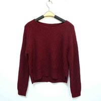 Cheap Autumn winter women sweaters and pullovers korean style long sleeve casual crop sweater slim solid knitted jumpers sweter mujer Christmas