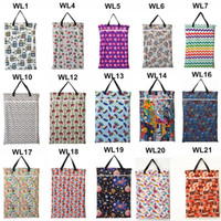 Wholesale U PICK Large Hanging Wet Dry Pail Bag for Cloth Diaper Inserts Nappy Laundry With Two Zippered Waterproof Reusable Choice