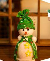 baby doll ideas - Apple Apple bags Christmas decoration ideas baby snowman bag Christmas Eve green effect box creative cute snowman doll gift