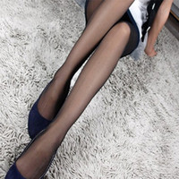 Wholesale Sexy Women s Summer Long Stockings thin Semi Sheer Tights Full Foot Pantyhose Skinny Panties