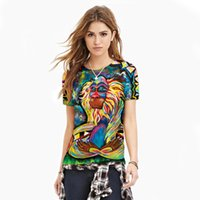 Wholesale Women Meditation Rafiki T Shirt Graffiti Rasta Monkey Elder Baboon Women Pullover Unisex Clothes Short Sleeve T shirt Top