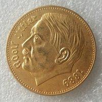 achat en gros de pièces de monnaie en plaqué or-Allemand 1889 Hitler pièces de monnaie plaquées or Promotion Cheap Factory Price nice home Accessoires Silver Coins
