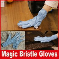 Household Electrical Appliances appliance sales - Magic Bristle Gloves Housework Cleaning Brush Glove Get Inside Behind In Between s of Durable Bristies Hot Sale