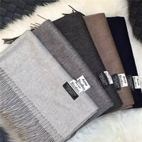 Wholesale ACNE Studios Echarpe Luxury Brand Scarf Unisex Female Male Best Quality Wool Cashmere Scarf Pashmina Tassels Women Men Wrap