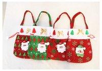 best wedding presents - Best price Chrismas Santa Claus Kids candy gift bags Handbag Pouch Wedding Sack Present Bag Christmas Decoration
