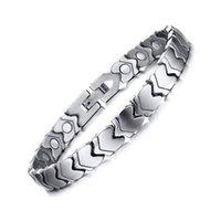 Wholesale 2016 New Arrival Stainless Steel Bracelet Fashion Silver Bracelets Bangles With Neutral Health Care Magnet Jewelry Accessories JSF