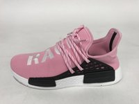 Wholesale Adidas NMD Pharrell Williams X Human Race R1 Running Shoes For Women Female Girls White Black Yellow Cheap Sneaker Size With Box