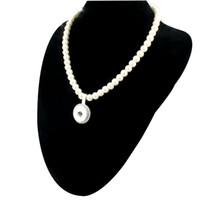 Perle collier pendentif Prix-Nouveau perles d'imitation perles Collier Snap pour les femmes avec pendentif élégant Bricolage 18MM gingembre boutons Snap Jewlery gros ZG020