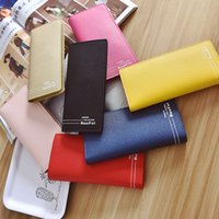 Wholesale Fashion Style Pinkycolor Long Design Wallets for Women Letter Print Credit ID Card Holder High Grade Party handbag