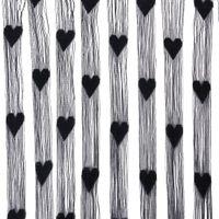 Cheap Wholesale-HGHO- Line Tassel String Door Sheer Curtain Window Panel Room Divider Curtain Valance String Door Curtain Black