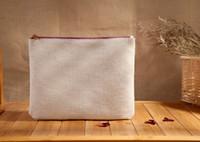 bags white stuff - Girls white pure cotton Linen cosmetic Bags DIY women blank plain zipper makeup bag phone clutch bag Gift organizer cases pencil pouches