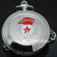 antique russian watches - Russian Vinge Silver Soviet BOLSHEVIK Mechanical FOB Pocket Watch Mens Military Pendant Watch Chain free ship