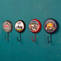 Wholesale Creative beer cover hook hook hook personality fitting room iron ornamental mural