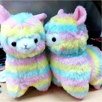 Wholesale cm Rainbow Alpaca Vicugna Pacos Plush Toy Japanese Soft Plush Alpacasso Baby Plush Stuffed Sheep Alpaca Gifts
