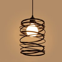 Wholesale Led Pendant Lights Vintage style Restaurant Hanging Lamps droplight bedroom lamp coffeehouse light creative design come with led bulb