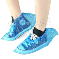 Wholesale 100Pcs Unisex Disposable Plastic Thick Outdoor Rainy Day Carpet Cleaning Shoes Cover Blue Office factory Home rain Supplies