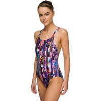Wholesale The new custom one piece diving movement Women s tight elastic euramerican style swimsuit Without steel supporting breast pad