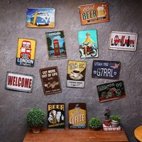 Signs&Plaques antique plaques - x30cm WELCOME LONDON COFFEE signs plaques for bar pub wall decor home decals tin sign metal painting poster