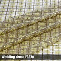 Wholesale elegant lace glitter sequin fabrics high quality multi color wedding dress for party